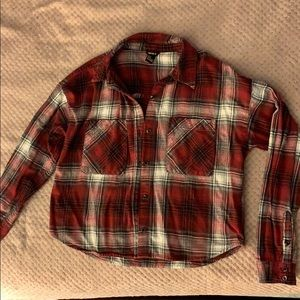 Flannel long sleeve button down